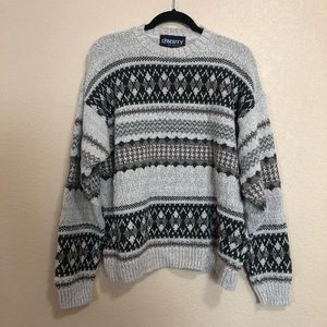 Vintage L Oversized Cream Medium Knit sweater